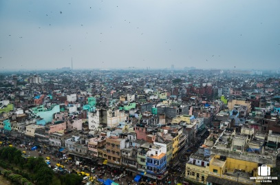 View of Old Delhi from the top of the minaret