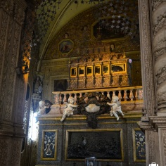 The holy relic of the St. Francis Xavier is present inside the casket