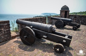 Fire power at Reis Magos Fort, Goa