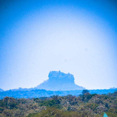 Sigiriya, as seen from Dambulla