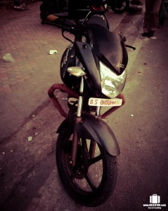 """Either """"Jai Mata DI"""" or name of the vehicle owner is written on the number plates of motorbikes!!!"""