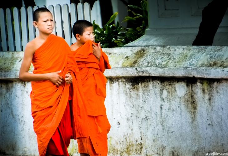 2 young monks  Luang Prabang, Laos
