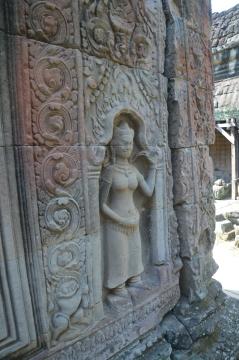A restored Devata at Preah Khan, Cambodia