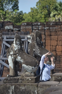 Guarding Lions at East Mebon