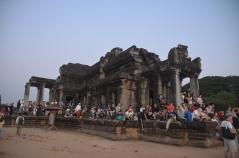 Tourists watching Angkor Wat Sunrise