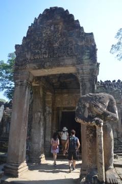 Headless Dwarapala (guard) at Preah Khan
