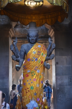 Statue of Lord Vishnu at Angkor Wat