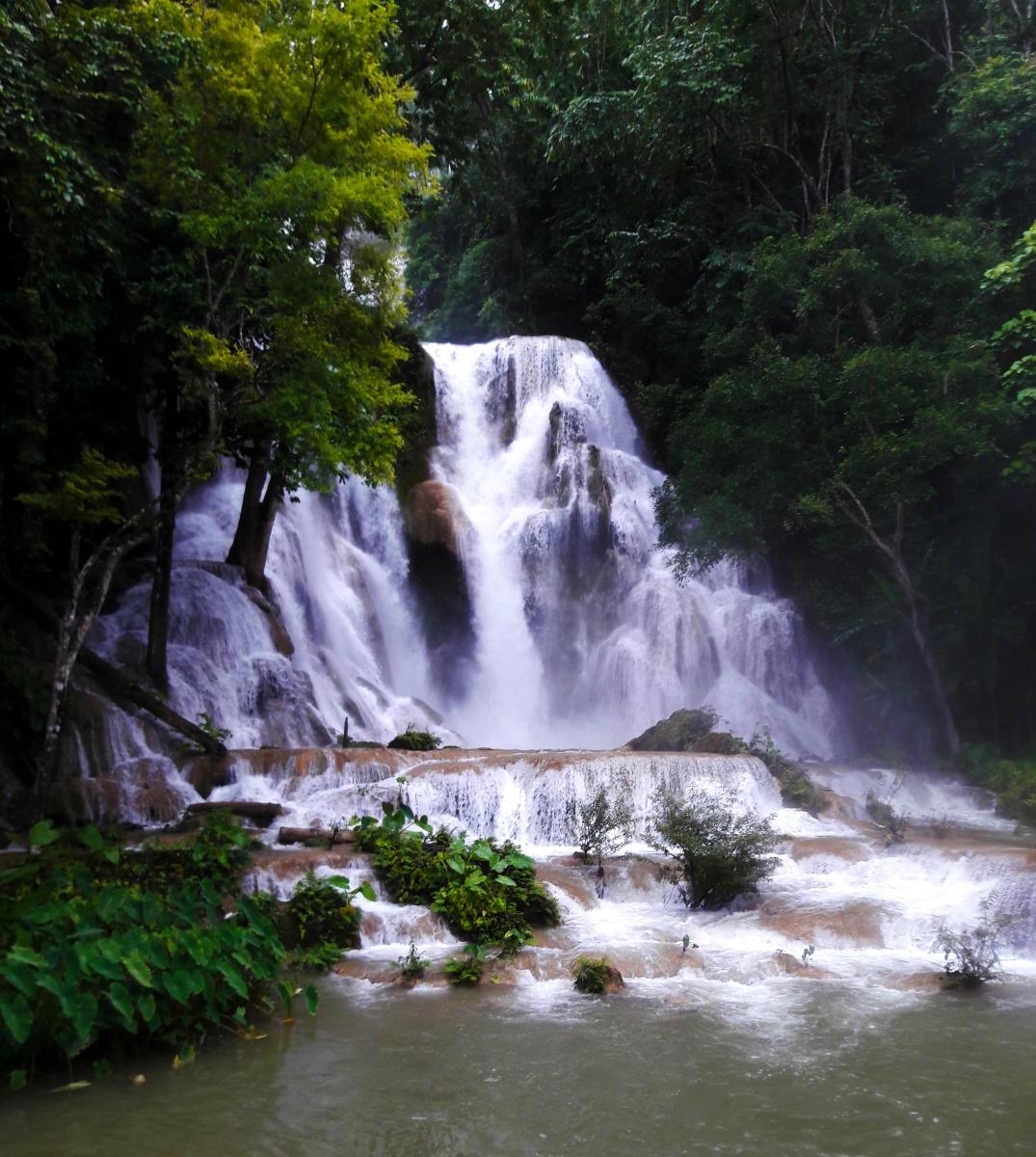 The mystical Tat Kuang Si Falls | Luang Prabang, Laos