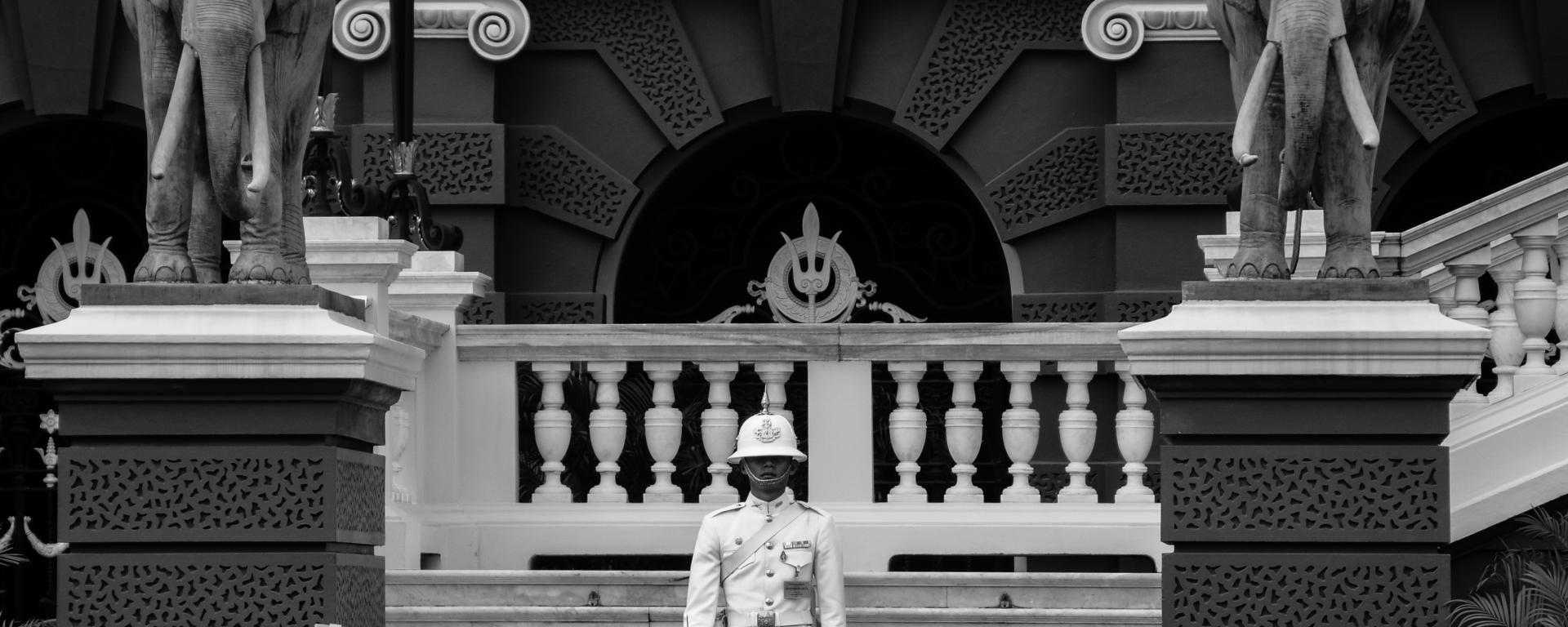 King's Guards at Grand Palace, Bangkok, Thailand