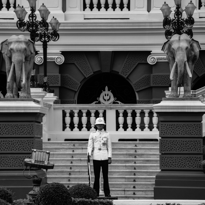 King's Guards at Grand Palace, Bangkok, Thailand