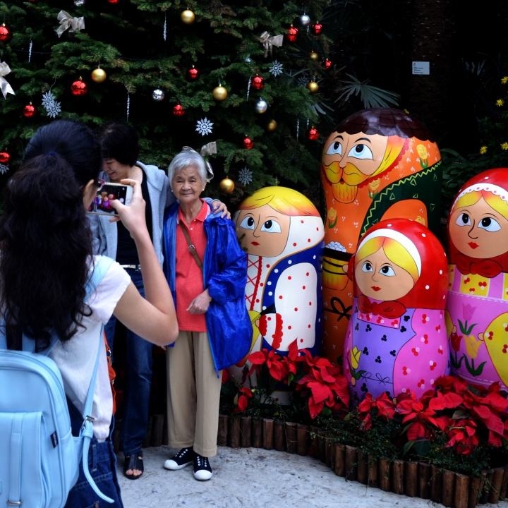 Grandma and Matryoshka dolls , Gardens by the bay Singapore - Sree is Travelling
