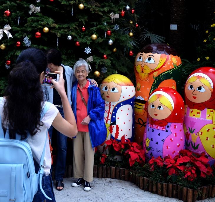 Grandma and Matryoshka dolls , Gardens by the bay Singapore - Sree is Travelling