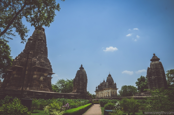 Temples of Khajuraho, sree is travelling