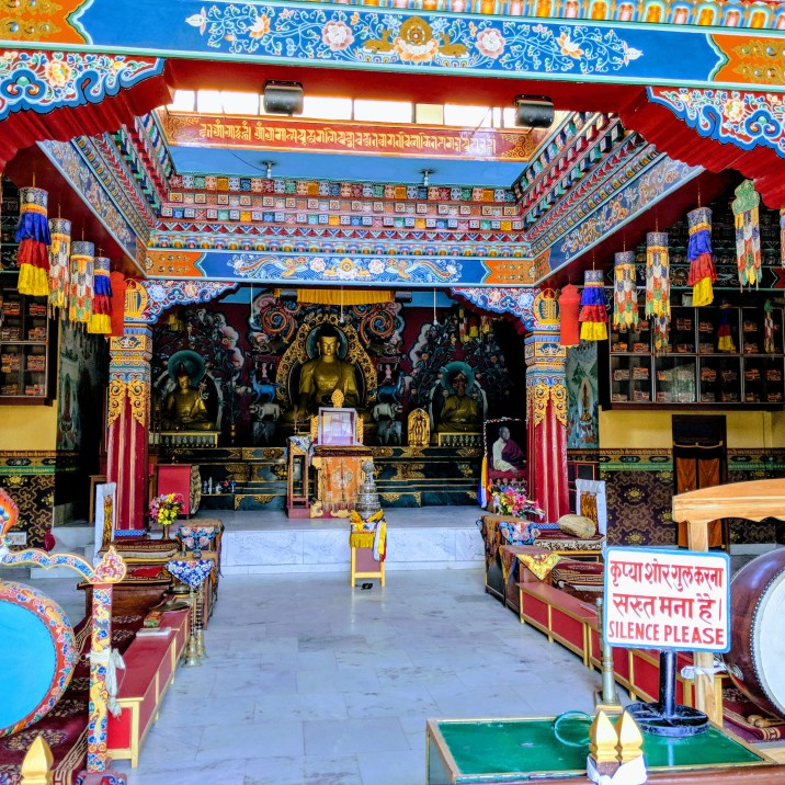 Tibetan temple Bodh Gaya, sree is travelling
